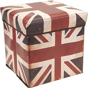 صندوق تخزين مطبوع عليه العلم البريطاني