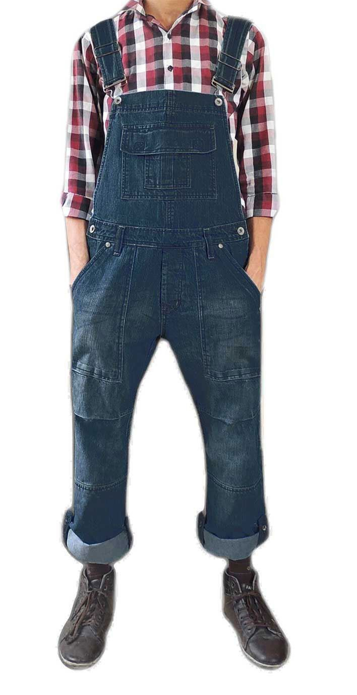 True Face Unisex Denim Onesie all in one Dungarees