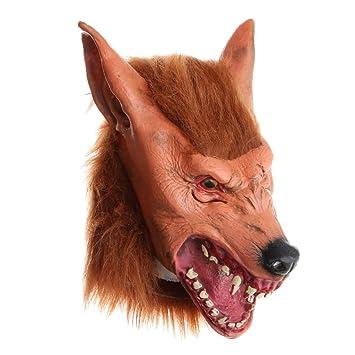 P Prettyia 1 Pieza Cabeza Máscara de Diseño Animal Enojado para Haloween Disfraces Decoración de Bricolaje