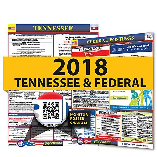 Discount 2018 Tennessee State & Federal Labor Law Posters for Workplace Compliance hot sale