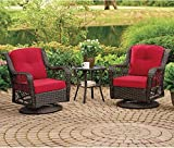 Wilson & Fisher Pinehurst Red Replacement Cushion Swivel Glider Chair Set, 4-Piece Outdoor Patio Set