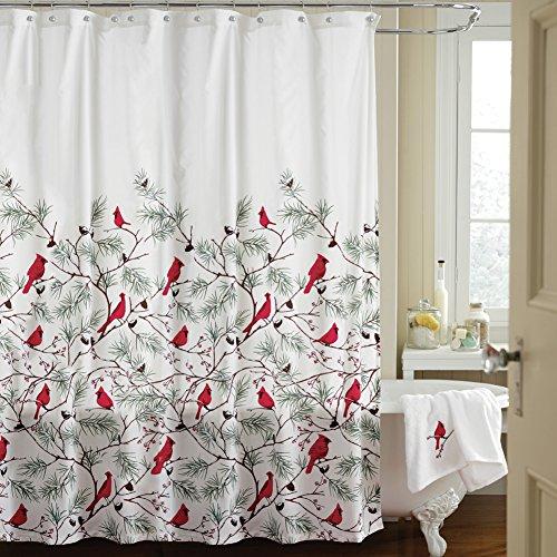 Snow Cardinals Shower Curtain Oh Decor Curtain