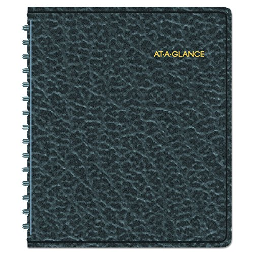 (AT-A-GLANCE 7086505 Weekly Appointment Book Ruled, Hourly Appts, 6 7/8 x 8 3/4, Black, 2016-2017)