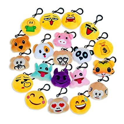Amazon Niviy Plush Emoji Keychain Cute Faces Themed
