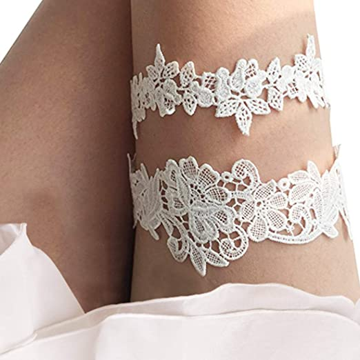 b293a1d37 Image Unavailable. Image not available for. Color  CIEHER Lace Wedding  Garter Set ...