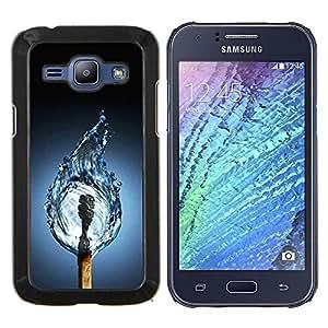 - ART DRAWING WATER LIFE FLAME FIRE MATCH - Caja del telšŠfono delgado Guardia Armor- For Samsung Galaxy J1 J100 J100H Devil Case