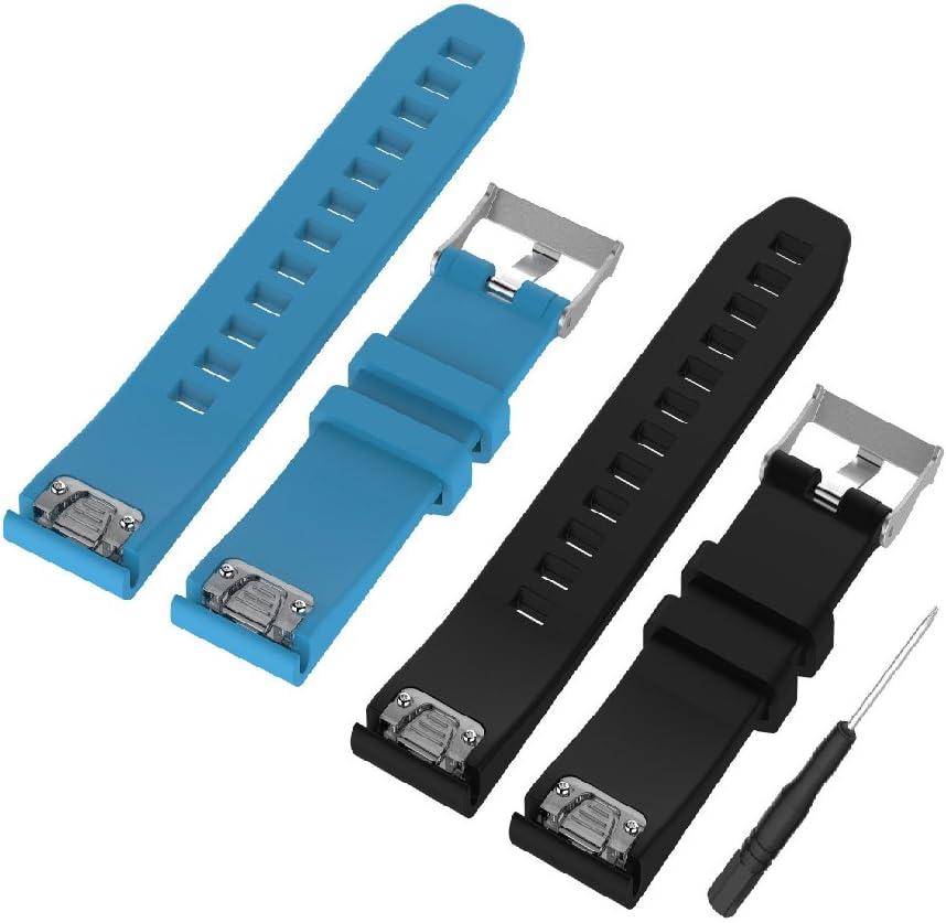 WEINISITE 22 mm Silicona Ajustable Reemplazo Pulsera para Garmin Fenix 5/ Approach S60 Golf/ for Garmin Forerunner 935/ Quatix 5 GPS Watch