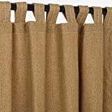 Sunbrella Outdoor Curtain with Tab Top – Linen Sesame, 50×96 For Sale