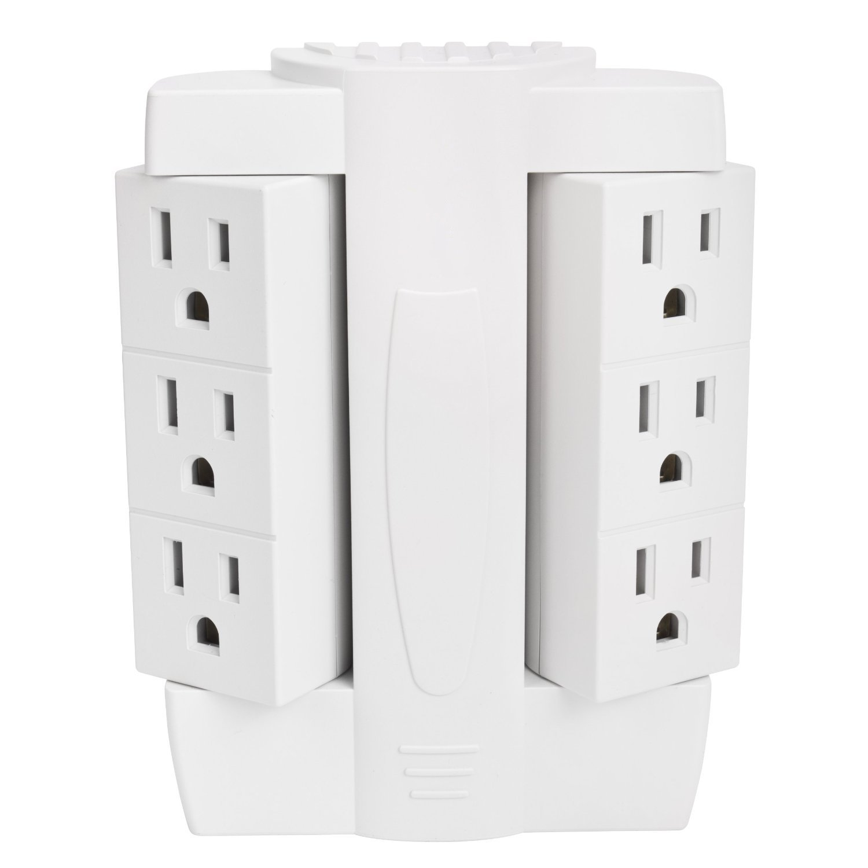 Ultimate 6 Outlet 90° Rotating Sideways Multi-plug Socket - - Amazon.com