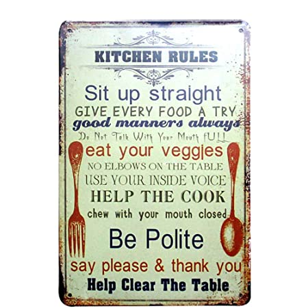 HALEY GAINES Kitchen Rules Placa Cartel Póster de Pared ...
