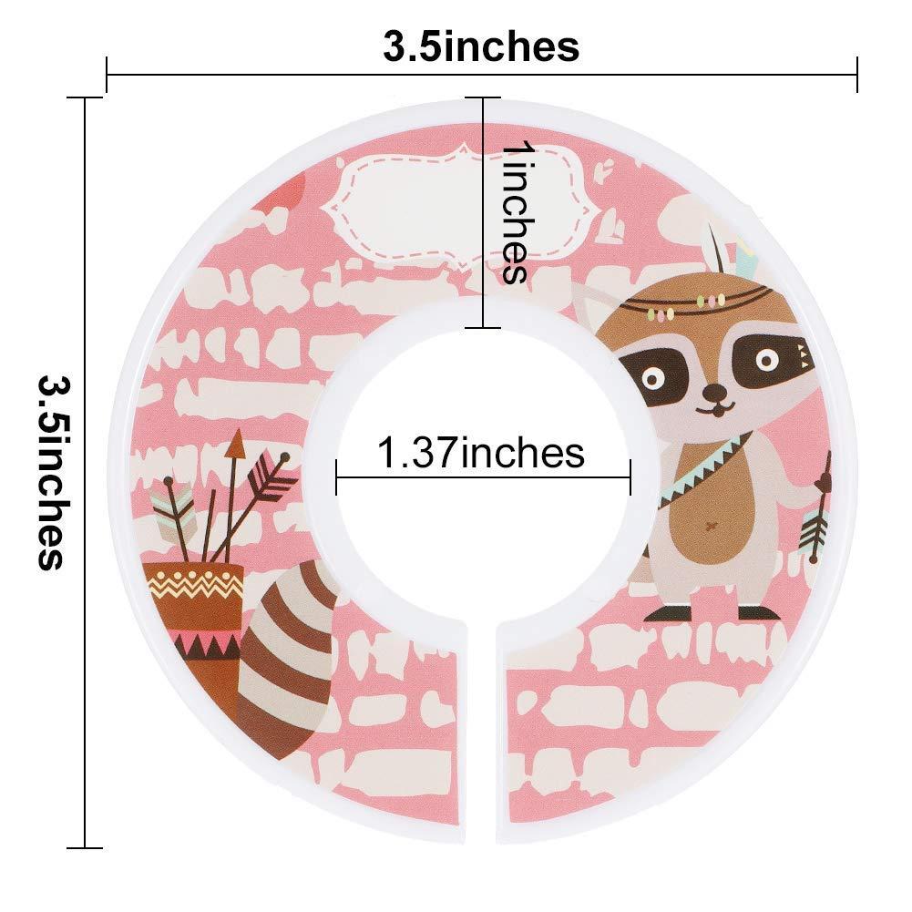 Dhaus Baby Kleiderschrank Kleidung Teiler Set von 12 Kinderzimmer Baby Schrank Kleidung Teiler Baby Kinderzimmer Kleinkind Kleidung Gr/ö/ße Veranstalter Teiler M/ädchen Junge Tiere