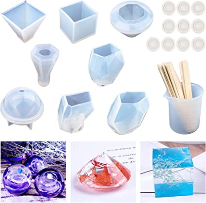Pyramid Hexagonal Craft Tool DIY Casting Pendant Resin Silicone Mold Jewelry