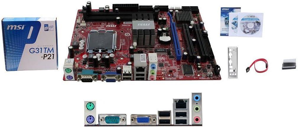 MSI G31TM-P21 LGA 775 Intel G31 Micro ATX Intel Motherboard - Retail