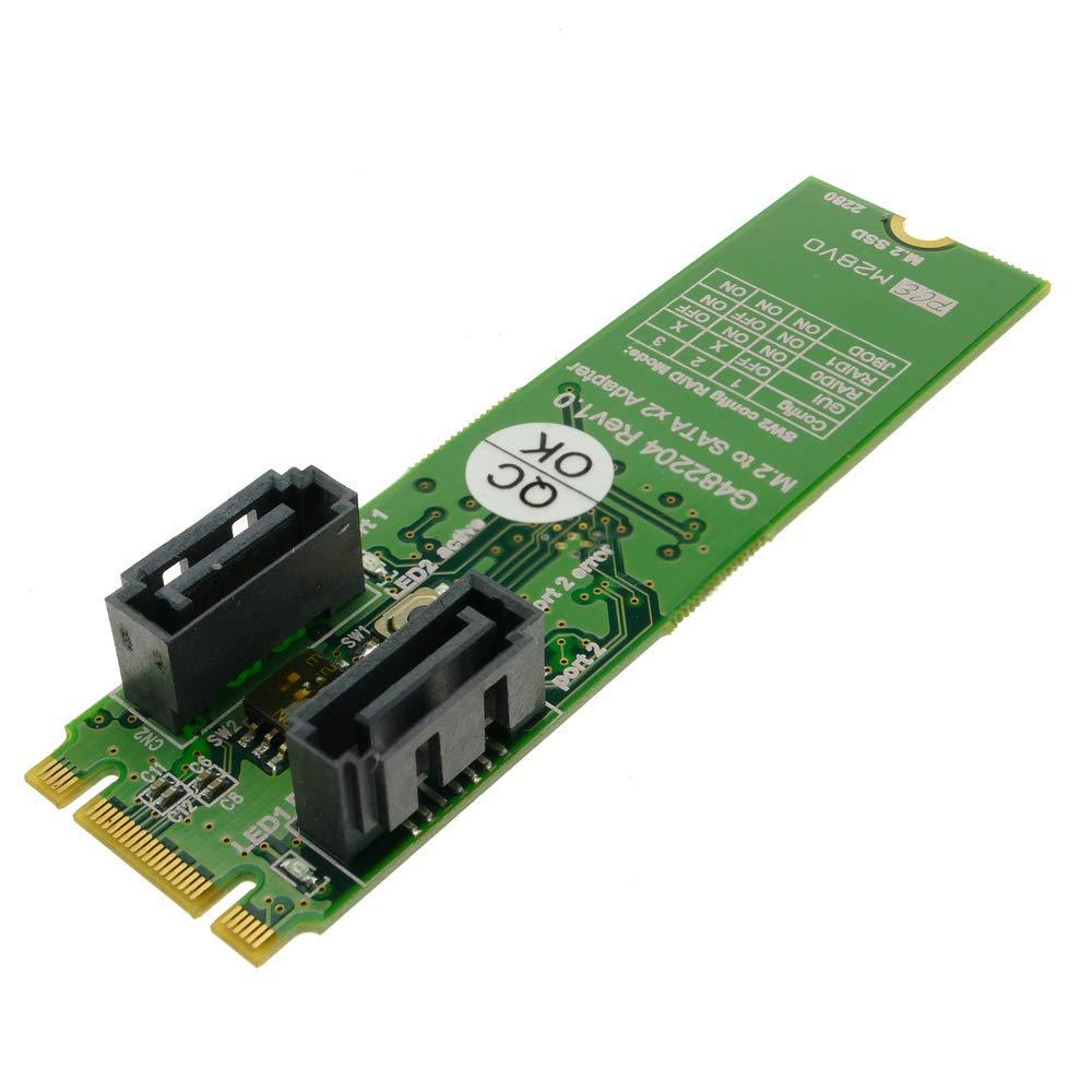BeMatik - Tarjeta adaptadora SSD M.2 a SATA 2 x 7-pin: Amazon.es ...