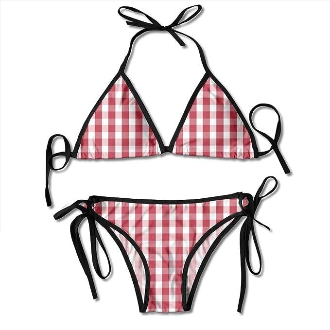 b838b52e33ee3 Amazon.com: Hailiy USA Flag Red and White Gingham Checked Women's ...