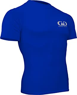 product image for HT-603S-CB Fitness Compression Fit, Short Sleeve Crew Neck Shirt-Track, Soccer, Football, Weight Training, Lacrosse-Sweat Transfer Technology (XXX-Large, Royal)
