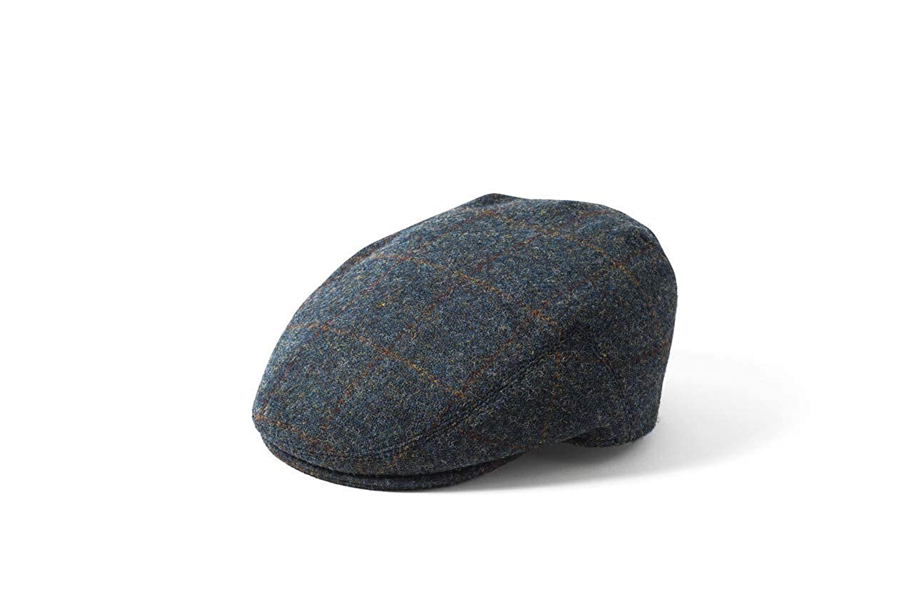 9484b0aac38 Stornoway 2018 Dark Grey Check Harris Tweed Wool Flat Cap - Failsworth  (58cm)  Amazon.co.uk  Clothing