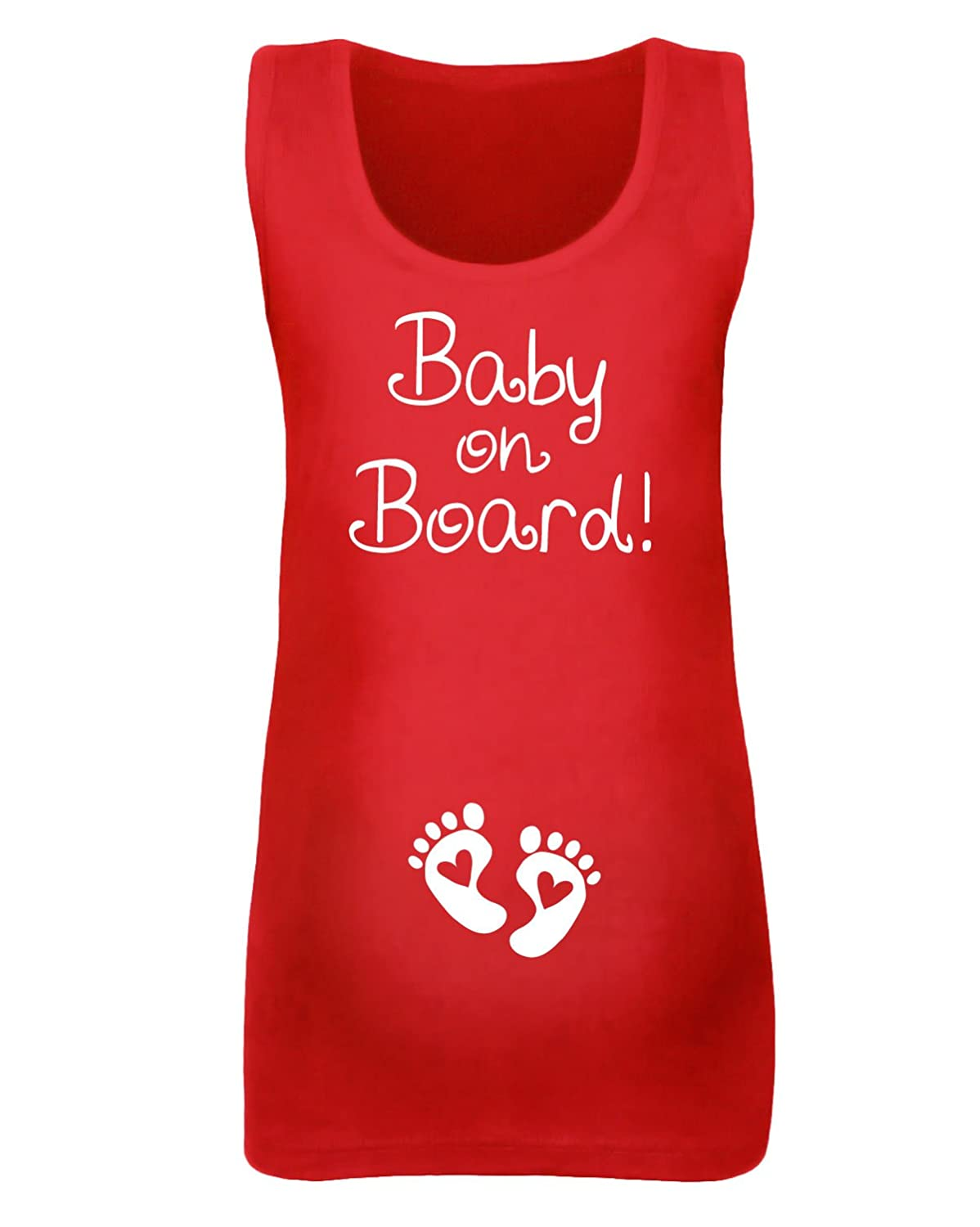 Womens 'Baby on Board' Maternity Vest - Various Colours Available 51998