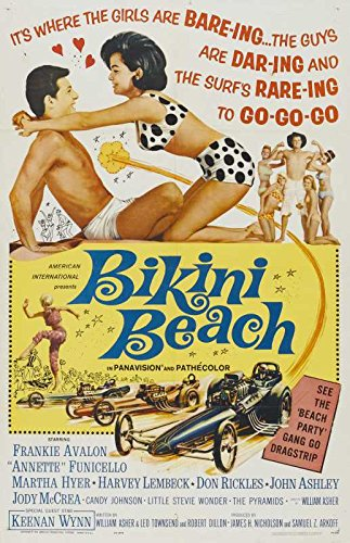 Reproduction of a poster presenting - Bikini Beach 01 - Poster Print Buy Online