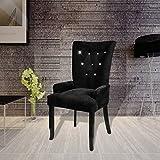 SKB Family Luxury Armchair Velvet-coated Black
