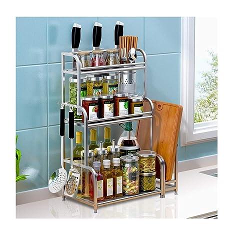 QQB &Shelf Estantes de Cocina, Acero Inoxidable Hogar ...
