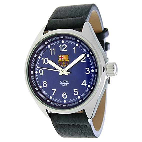 RADIANT Reloj analógico de caballero F.C.BARCELONA - Correa de piel - Azul - BA-12602 Pilot: Amazon.es: Relojes