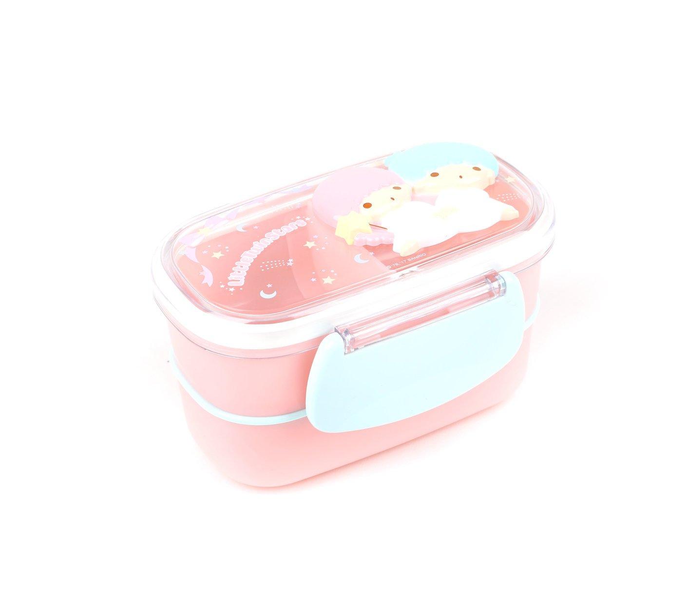 Little Twin Stars Die-Cut 2-Tier Lunch Container: Stars Sanrio