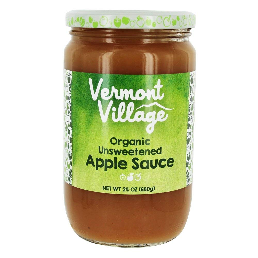 Vermont Village Cannery Organic Unsweetened Applesauce, 24 Ounce (Pack of 6) by Vermont Village Cannery