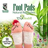 Foot Pads by TJ's Health | 30 Premium Natural Cleansing Patches 100% all organic - Remove Impurities | Body Pain Relief - Aromatherapy Pad | Sleep Renovation Ebook included!