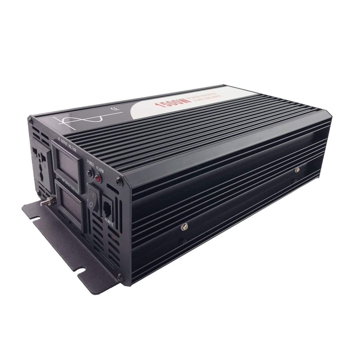DC 12V to AC 120V Peak 3000W Pure Sine Wave power Inverter DC 12V 24V 48V to AC 120V 60HZ Solar converter For Home Use car Xijia 1500W