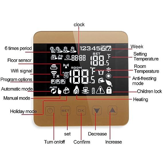 Onepeak Smart WiFi Termostato para agua/gas Caldera Calefacción Piso Eco Control de voz programable Controlador de temperatura ambiente: Amazon.es: ...