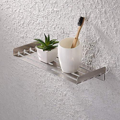 Kes Bathroom Shelf Stainless Steel Bath Shower Shelf Basket Caddy RUSTPROOF Square Modern Style Wall Mounted Brushed Finish, BSC214S30A-2
