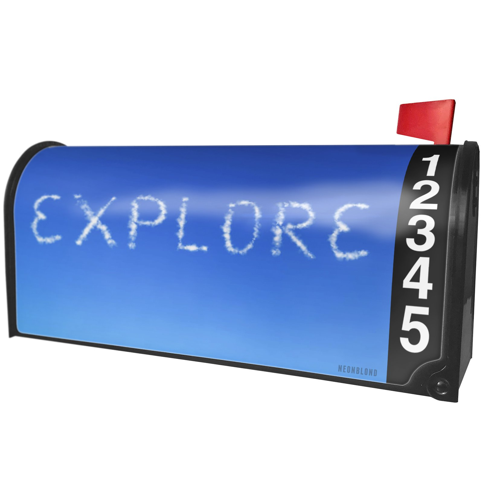 NEONBLOND Explore Clouds Fresh Air Magnetic Mailbox Cover Custom Numbers