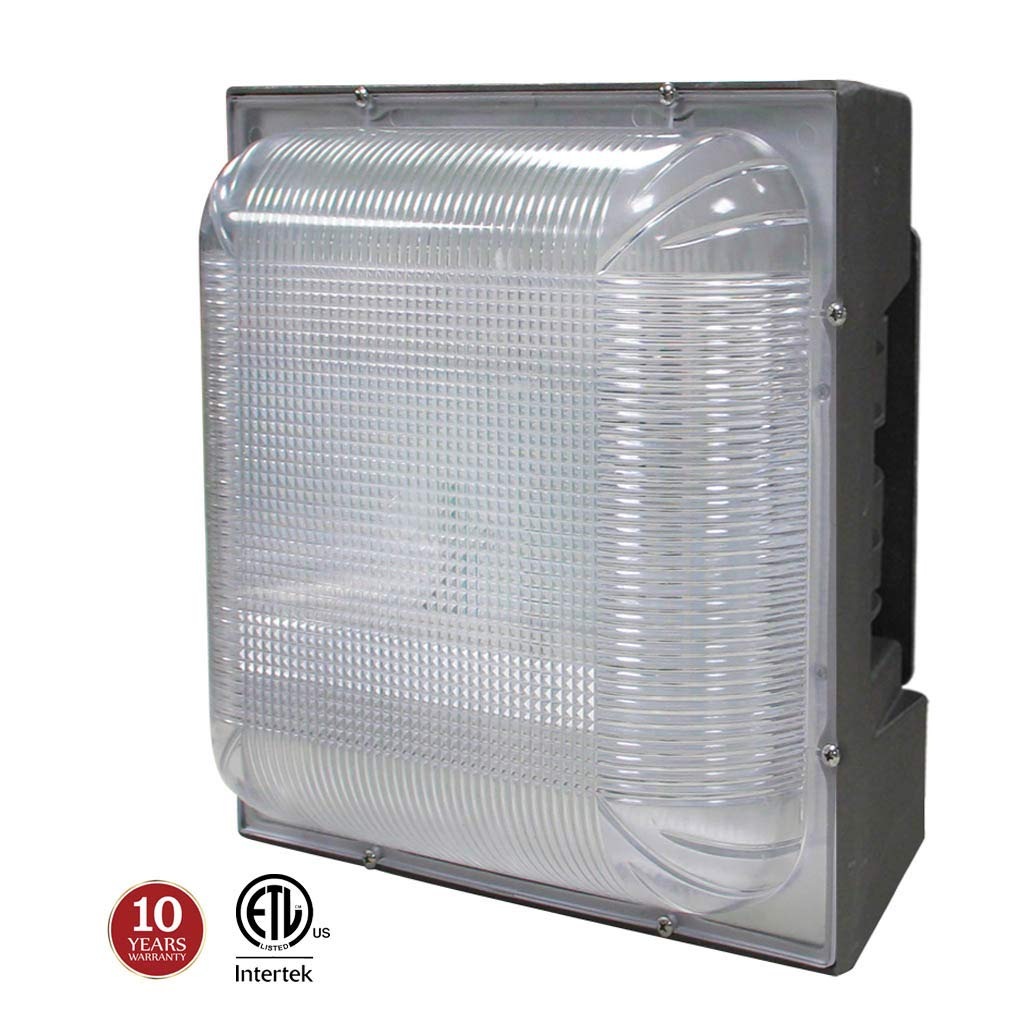 LED Canopy Light 75W (175-300W HPS/MH Equivalent), 8.8'' x 8.8'' Square Ceiling Lights for Parking Garage Gas Station Warehouse Lighting, 5000K 8300lm 100-277Vac IP65 10-Year Warranty by Kadision
