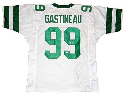Autographed Mark Gastineau Jersey -  99 White Throwback - JSA Certified -  Autographed NFL Jerseys af833c839