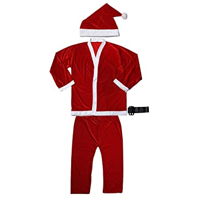 Imported 5pcs Adult Men Christmas Santa Claus Costume Suit Outfit One Size  sc 1 st  Amazon.in & Imported 5pcs Adult Men Christmas Santa Claus Costume Suit Outfit ...