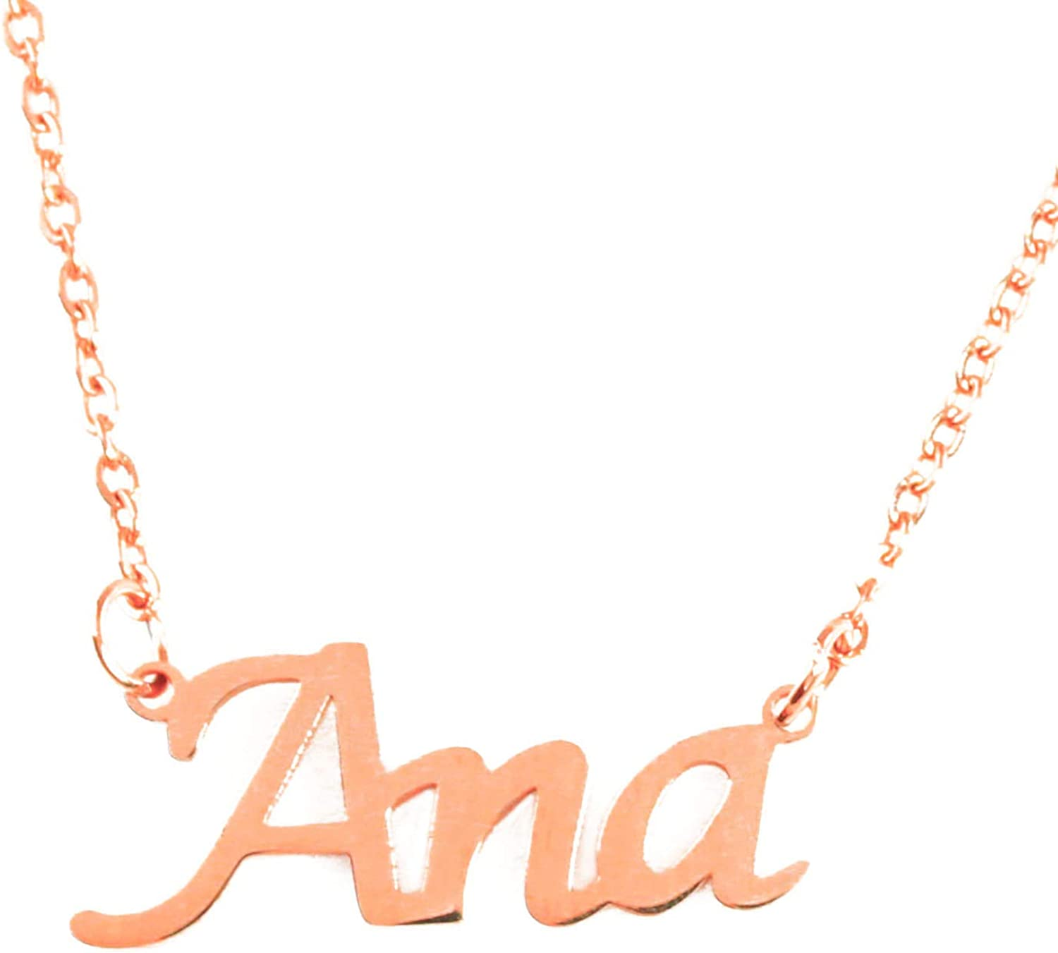 18ct Rose Gold Plated Zacria Kara Custom Name Necklace Personalized