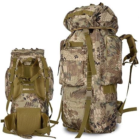 LIUSIYU Mochila táctica para Excursionismo al Aire Libre de 90 litros, Mochilas Militares de Trekking