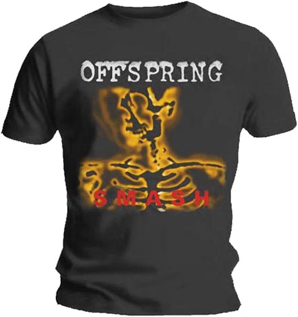 Official T Shirt THE OFFSPRING Grey SMASH 20 Logo All Sizes