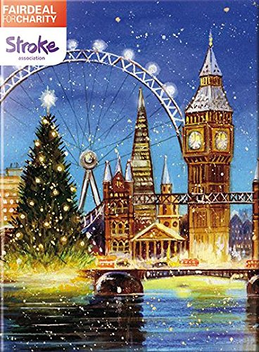 GBCC Almanac Charity Christmas Cards - London Landmarks (00161) Box Of 10 Cards - Sold In Support Of The Stroke Association