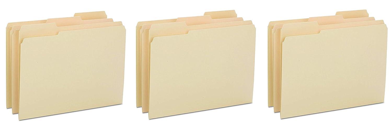 10434 Letter Size Smead Heavyweight File Folder Manila Reinforced 1//3-Cut Tab 100 Per Box