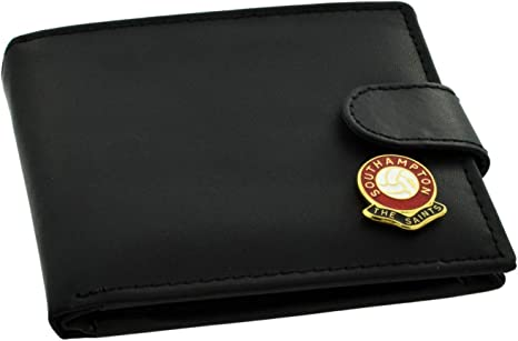 Southampton FC 'The Saints' Football Club Genuine Black Leather Wallet