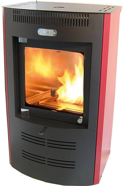 Tecno Air System sb325bx Estufa de bioetanol Ventilata Ruby, 3200 W, Rojo