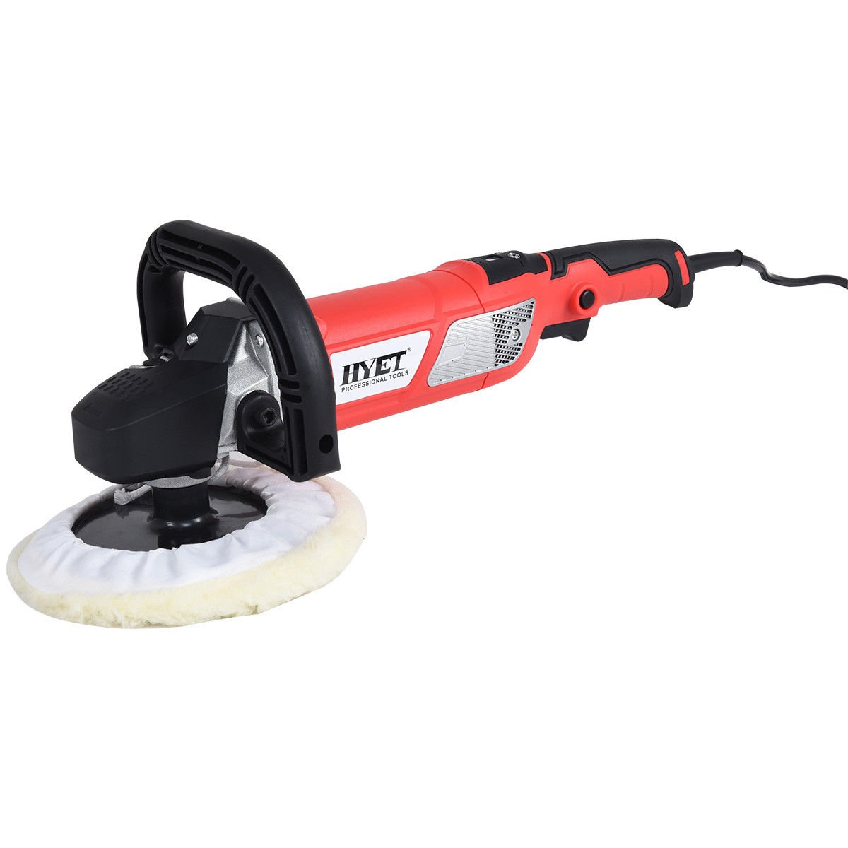 Globe House Products GHP 7'' Pad Size 1200W 0-4000RPM Variable Speed Electric Car Polisher with Case by Globe House Products (Image #1)