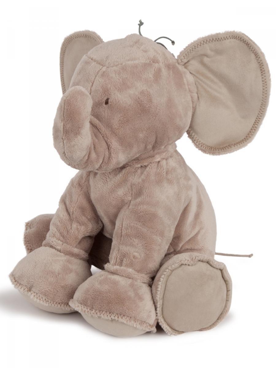 TARTINE ET CHOCOLAT - Peluche Eléphant 60 cm beige taupe bébé fille Tartine et Chocolat