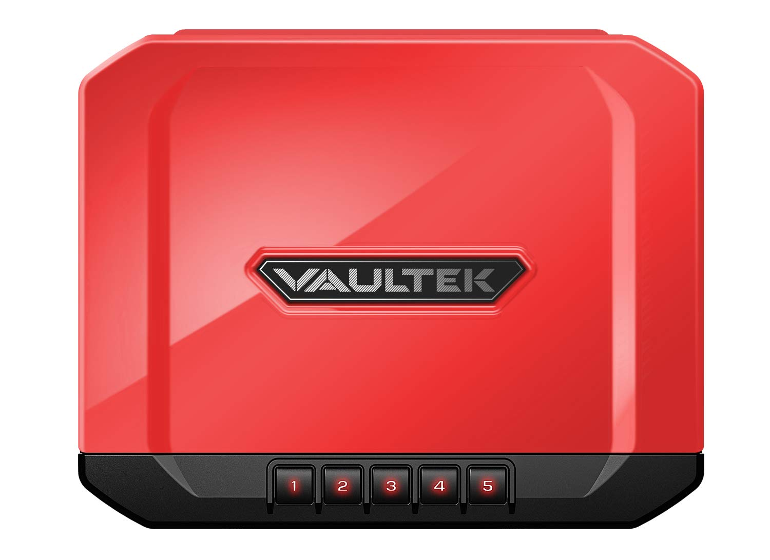 Vaultek Essential Series Quick Access Portable Safe Auto Open Lid Quick-Release Security Cable Rechargeable Lithium-ion Battery (VE10 (Mars Red Sub-Compact Safe))
