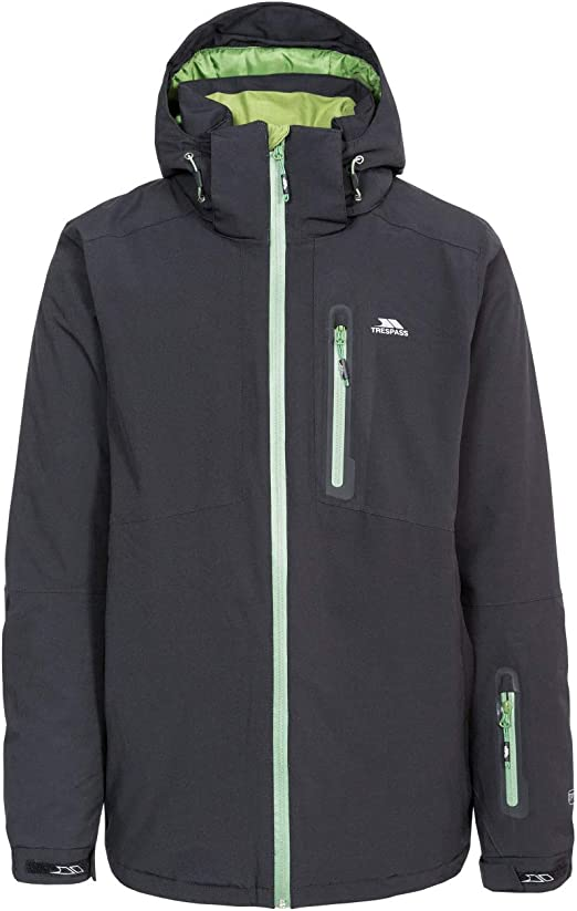 Trespass Mens Hayes Waterproof Ski Jacket with Removable Hood