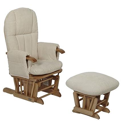 Fabulous Tutti Bambini Daisy Nursing Glider Chair And Stool Natural Creativecarmelina Interior Chair Design Creativecarmelinacom