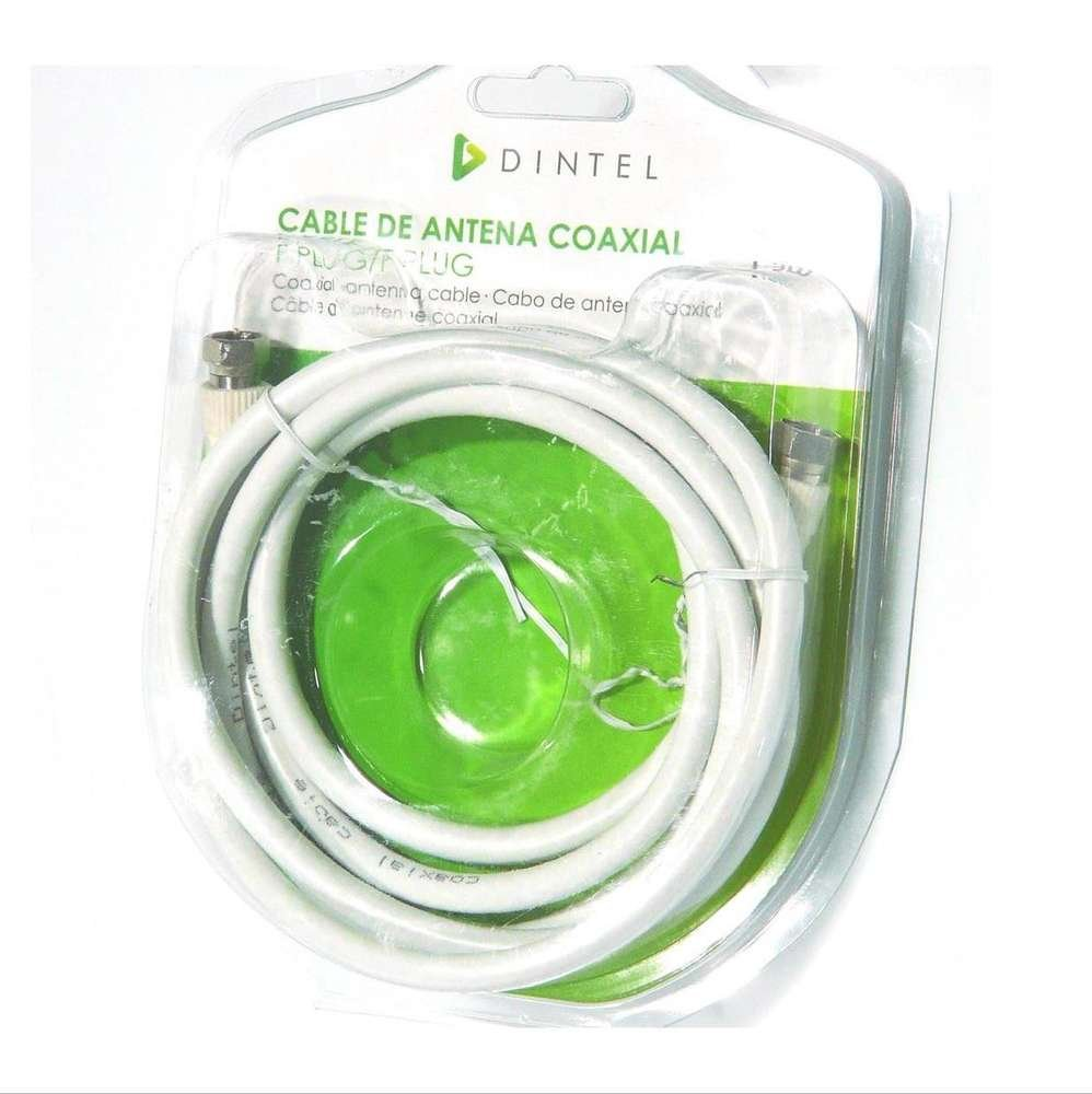 Dintel - Antena satelital de Cable Coaxial F/F1.5 Metros | Conector (A) F | Conector (B) F | Longitud 1.5 m | Color Blanco | 0,5 mm de Conductor Interno Ccs ...