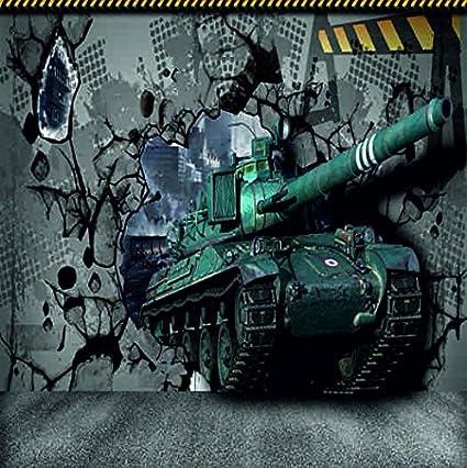 Kayra Decor Army Tanker 3D Wallpaper Print Decal Deco Indoor Wall Mural